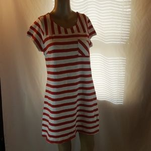 Small Red White Striped Dress